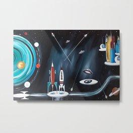 Space Cityscape Metal Print