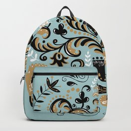 Scandinavian Winter Celebration With Birds Backpack