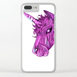 Sparky Unicorn Clear iPhone Case