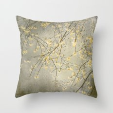 Spring rain Throw Pillow