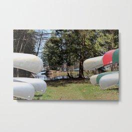 Canoe 2 Metal Print