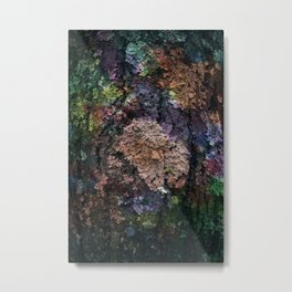 Colored lichens Metal Print