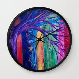 Rainbow Woods Wall Clock