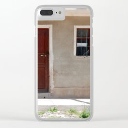 Bolivia door 6 Clear iPhone Case