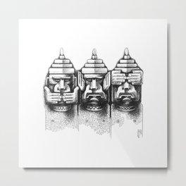 Three wise monkeys Metal Print