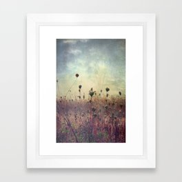 Her Mind Wandered in Beautiful Worlds Framed Art Print