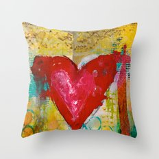 Inky Heart Throw Pillow