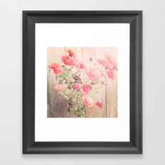 Flowers on the Wall Framed Art Print