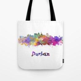 Durban skyline in watercolor Tote Bag
