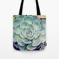succulent Tote Bags featuring Succulent by Holli Dunn Photography
