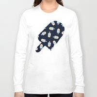 psychadelic Long Sleeve T-shirts featuring Popsicles in Space by Popsicle Illusion