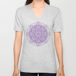 Feathers and Crystals Seen Unisex V-Neck
