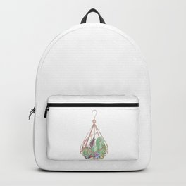 Rose gold terrarium - watercolor cactus Backpack