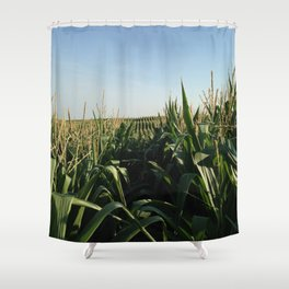 Falling Into Line Shower Curtain