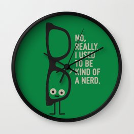Nerd Is the New Black Wall Clock