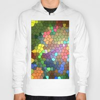 stained glass Hoodies featuring Stained Glass by Inspired By Fashion