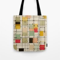 bedding Tote Bags featuring embrace uncertainty by spinL