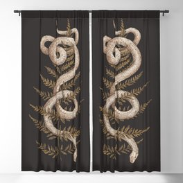 The Snake and Fern Blackout Curtain