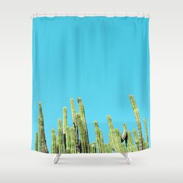 Desert Cactus Reaching for the Blue Sky Shower Curtain