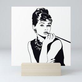 AUDREY HEPBURN Mini Art Print