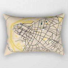 Asuncion Yellow City Map Rectangular Pillow