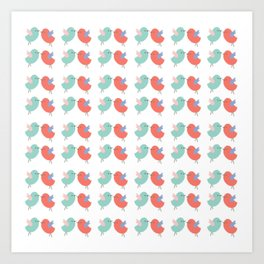 Tweety Birds Pattern Art Print