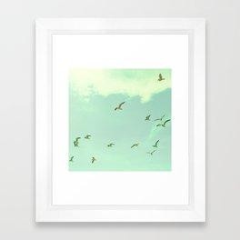 Waves in the Sky Framed Art Print