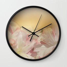 Window Curtains - Smell the Flowers Wall Clock