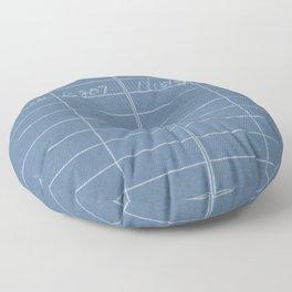 Library Card 797 Negative Blue Floor Pillow