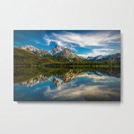 Sawtooth Range Morning Reflection Metal Print