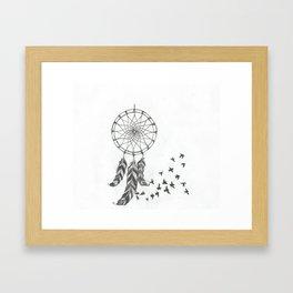Catch my dreams Framed Art Print