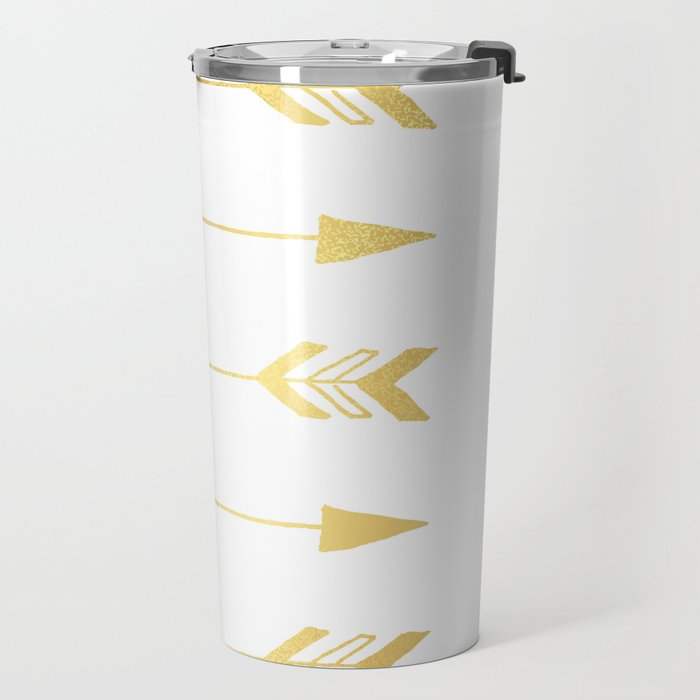 Faux gold foil arrows Travel Mug