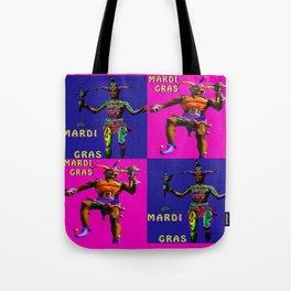Mardi Gras Jester Twins Tote Bag