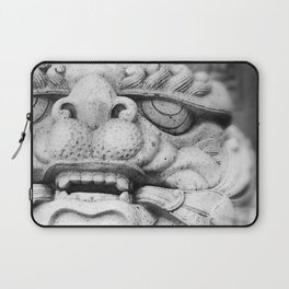 Foo Dog - black and white Laptop Sleeve