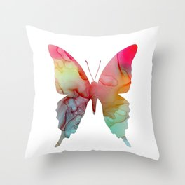 Butterfly, alcohol ink Throw Pillow