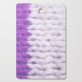 Violet White Wool Knitting Texture Cutting Board