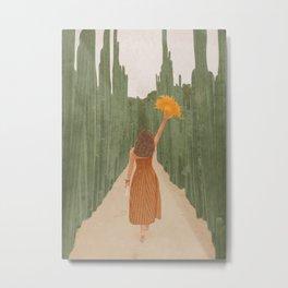 A Way Through the Cactus Field Metal Print