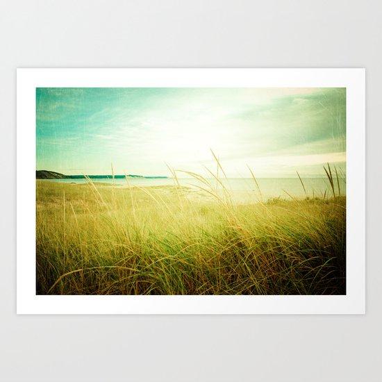 Beach Times Art Print
