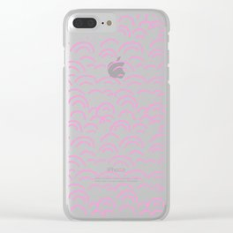 Abstract geometrical hand painted scallops pattern Clear iPhone Case