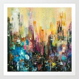 Evening city Art Print