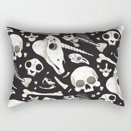black Skulls and Bones - Wunderkammer Rectangular Pillow