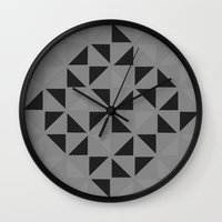 gray Wall Clocks featuring Gray by Lonica Photography & Poly Designs