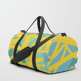 Yellow Green Acqua Abstract Organic Pattern Desig Duffle Bag
