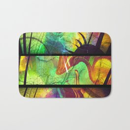 Painted Panes Abstract Bath Mat