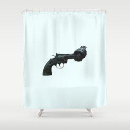 Non-violence Revolver Shower Curtain