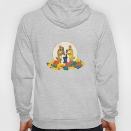 Minhwa: Moon Rabbit B Type (Korean traditional/folk art) Hoody