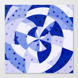 Polka Dots Blue Geometric Design Canvas Print