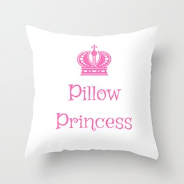 Pink Crown Pillow Princess LGBTQ Slang Throw Pillow