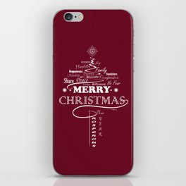 The Wishing Christmas Tree iPhone Skin