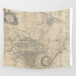 Vintage Map of Edinburgh Scotland (1818) Wall Tapestry